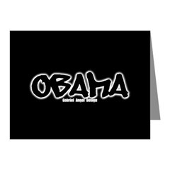 Obama Graffiti Note Cards (Pk of 10)