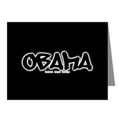 Obama Graffiti Note Cards (Pk of 20)