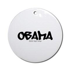Obama Graffiti Ornament (Round)