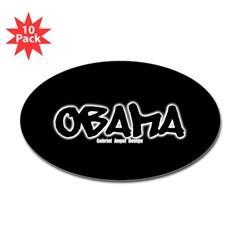 Obama Graffiti Oval Sticker (10 pk)