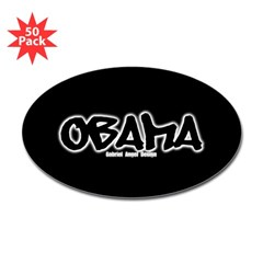 Obama Graffiti Oval Sticker (50 pk)