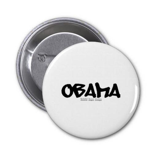 Obama Graffiti Pinback Button