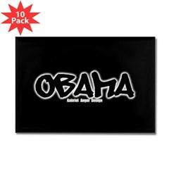 Obama Graffiti Rectangle Magnet (10 pack)