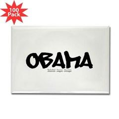 Obama Graffiti Rectangle Magnet (100 pack)