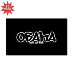 Obama Graffiti Rectangle Sticker 10 pk)