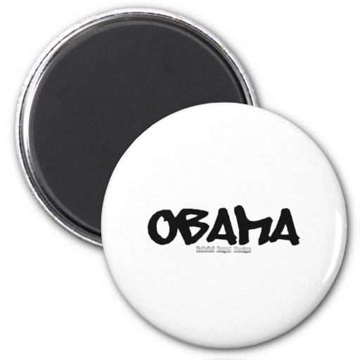 Obama Graffiti Refrigerator Magnet