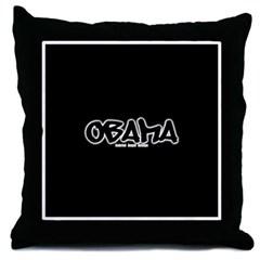 Obama Graffiti Throw Pillow