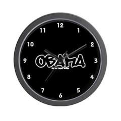 Obama Graffiti Wall Clock
