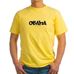 Obama Graffiti Yellow T-Shirt