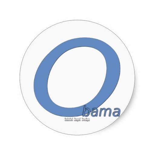 Obama Big O Classic Round Sticker