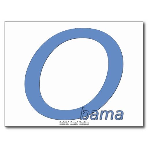 Obama Big O Postcard