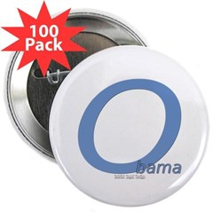 "Obama O Lean 2.25"" Button (100 pack)"