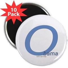"""Obama O Lean 2.25"""" Magnet (10 pack)"""