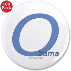 "Obama O Lean 3.5"" Button (100 pack)"