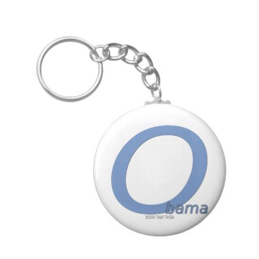 Obama O Lean Basic Button Keychain