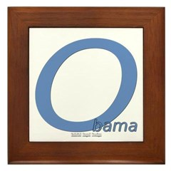 Obama O Lean Framed Tile