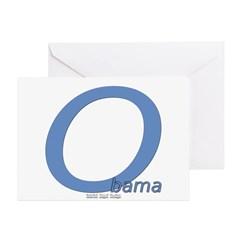 Obama O Lean Greeting Card