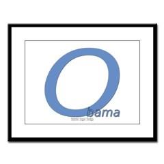 Obama O Lean Large Framed Print