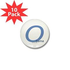 Obama O Lean Mini Button (10 pack)