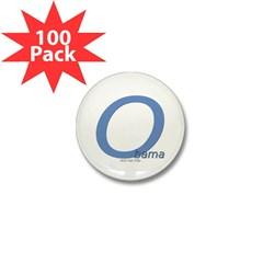 Obama O Lean Mini Button (100 pack)