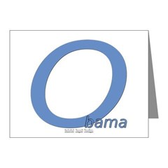 Obama O Lean Note Cards (Pk of 10)