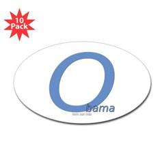 Obama O Lean Oval Sticker (10 pk)