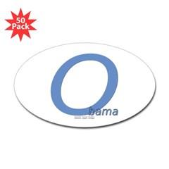 Obama O Lean Oval Sticker (50 pk)