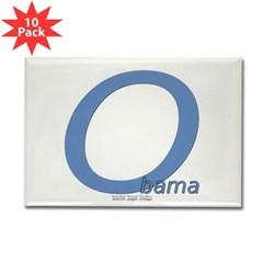 Obama O Lean Rectangle Magnet (10 pack)