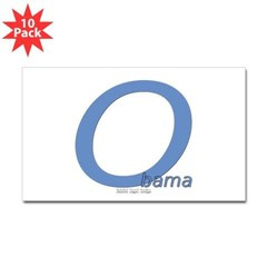 Obama O Lean Rectangle Sticker 10 pk)
