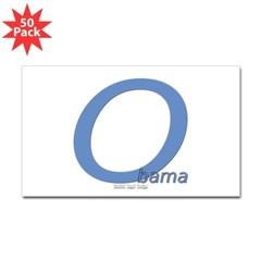 Obama O Lean Rectangle Sticker 50 pk)