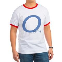 Obama O Lean Ringer T-Shirt