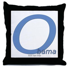 Obama O Lean Throw Pillow