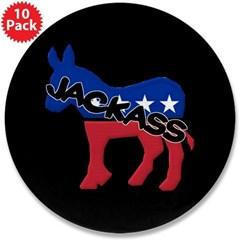 "Democratic Jackass 3.5"" Button (10 pack)"