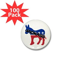 Democratic Jackass Mini Button (100 pack)