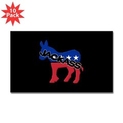 Democratic Jackass Rectangle Decal 10 Pack