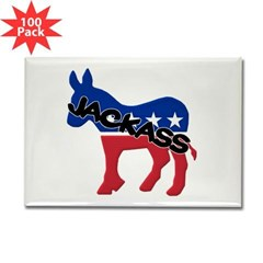 Democratic Jackass Rectangle Magnet (100 pack)