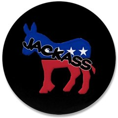 "Democratic Party Jackass Symbol 3.5"" Button"