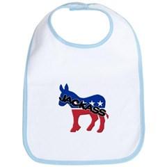 Democratic Party Jackass Symbol Baby Bib