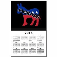 Democratic Party Jackass Symbol Calendar Print