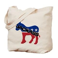 Democratic Party Jackass Symbol Canvas Tote Bag