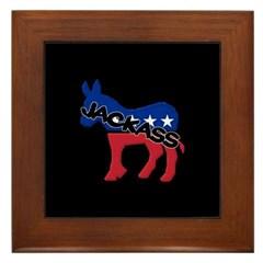 Democratic Party Jackass Symbol Framed Tile