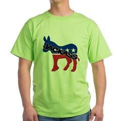 Democratic Party Jackass Symbol Green T-Shirt