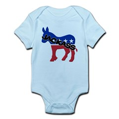 Democratic Party Jackass Symbol Infant Bodysuit