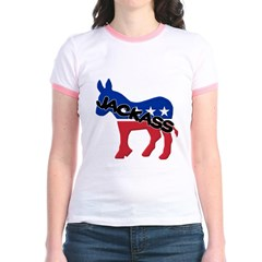 Democratic Party Jackass Symbol Junior Ringer T-Shirt