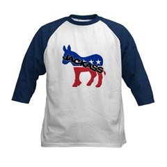 Democratic Party Jackass Symbol Kids Baseball Jersey T-Shirt