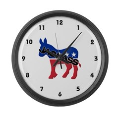Democratic Party Jackass Symbol Large Wall Clock