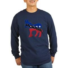 Democratic Party Jackass Symbol Long Sleeve Dark T-Shirt