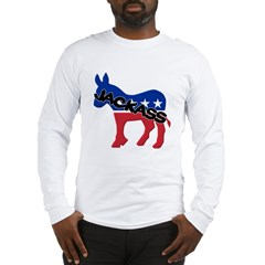 Democratic Party Jackass Symbol Long Sleeve T-Shirt