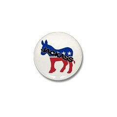 Democratic Party Jackass Symbol Mini Button