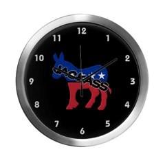 Democratic Party Jackass Symbol Modern Wall Clock